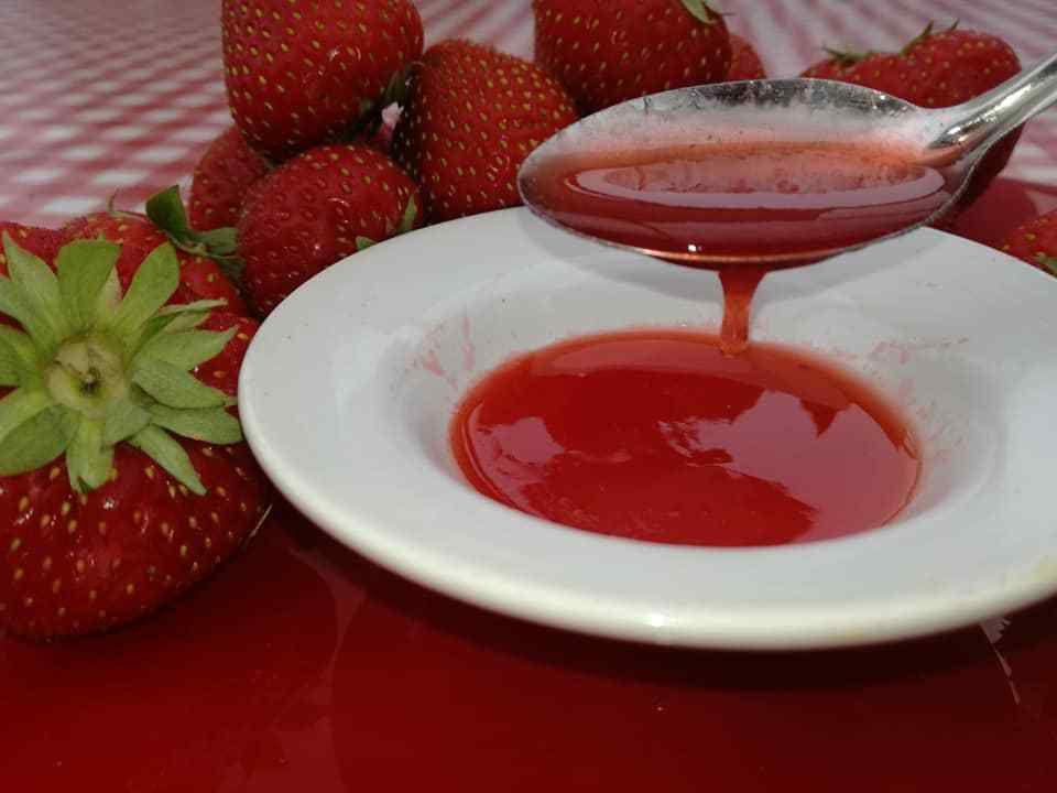 caramel de fraises