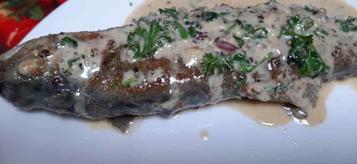 truite crème aillée