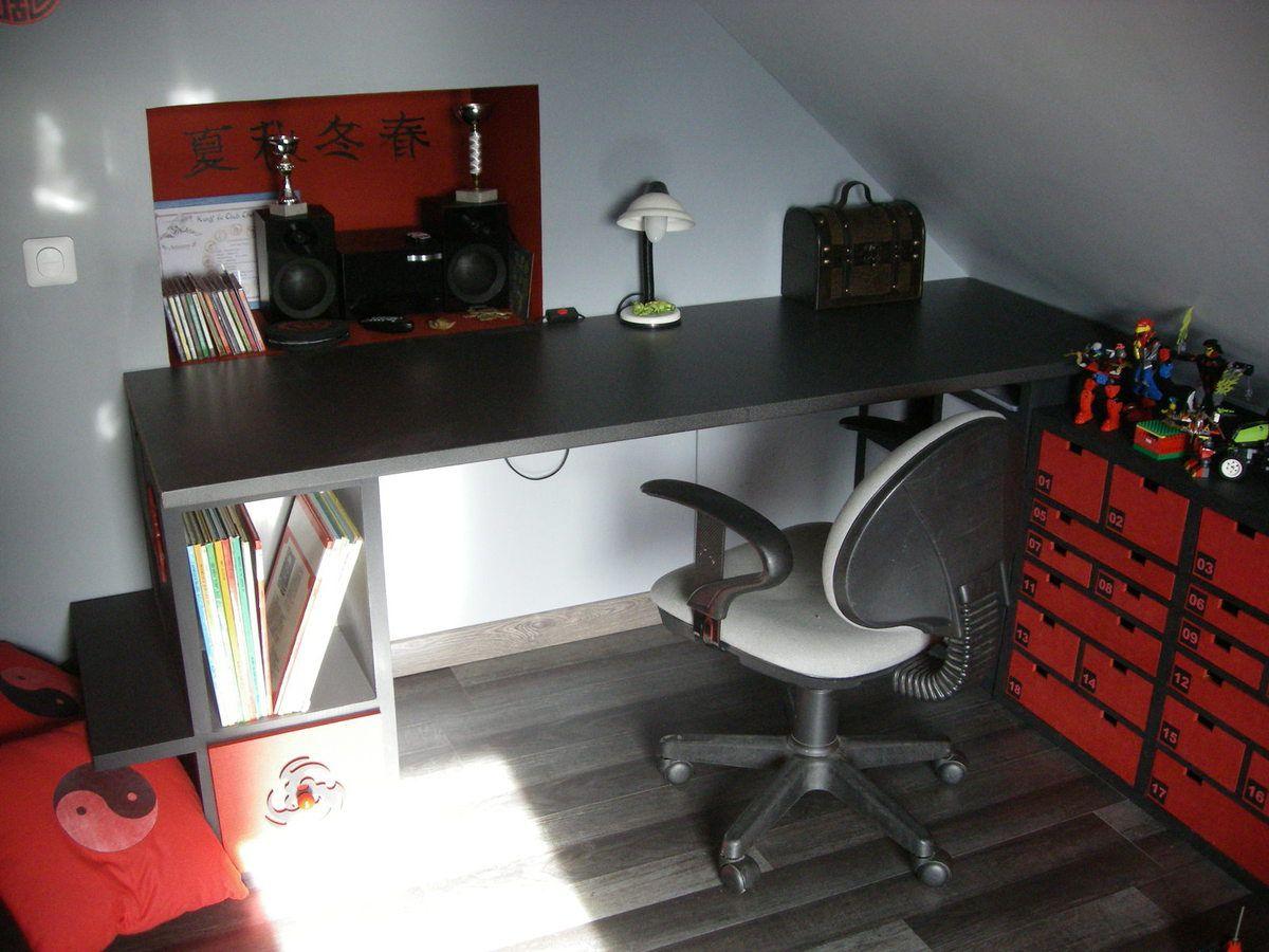 Bureau Plan De Travail chambre wushu carton - meubles en carton