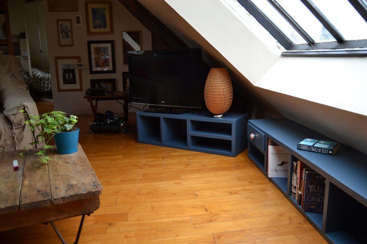Meubles bas meubles en carton angers for Meuble bas pour tele