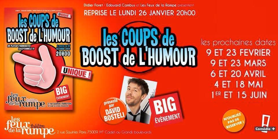 LES COUPS de BOOST de L'HUMOUR