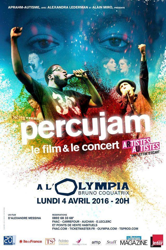 PERCUJAM à L'OLYMPIA LE 4 AVRIL 2016