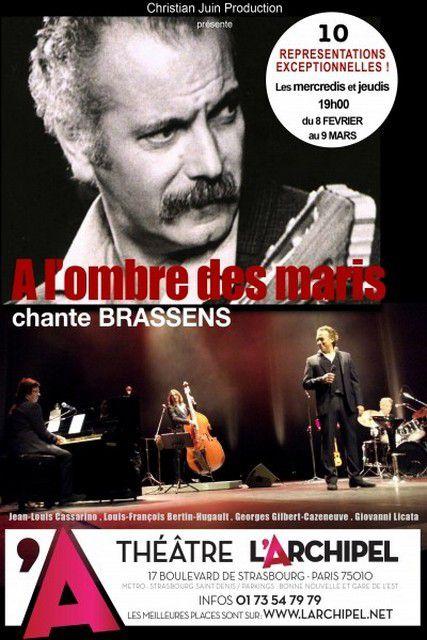 A L'OMBRE DES MARIS, un hommage à Georges BRASSENS
