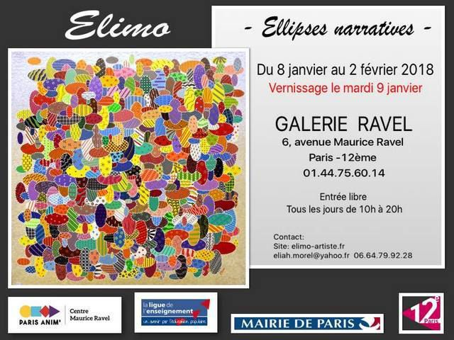 EXPOSITION ELIMO   GALERIE MAURICE-RAVEL