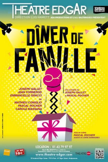 DÎNER DE FAMILLE de retour au Théâtre EDGAR
