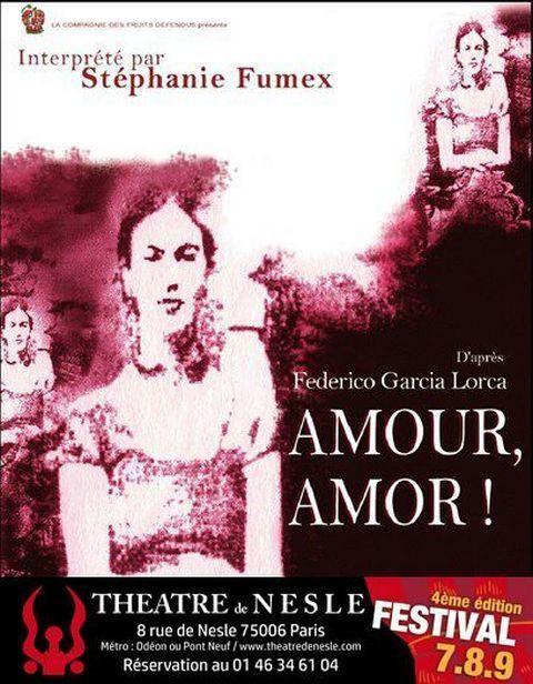 AMOUR, AMOR dans le cadre du Festival 7-8-9 au Théâtre de NESLE