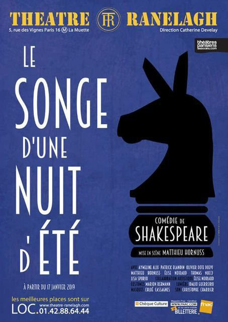 LE SONGE D'UNE NUIT D'ETE de William SHAKESPEARE revu par Matthieu HORNUSS