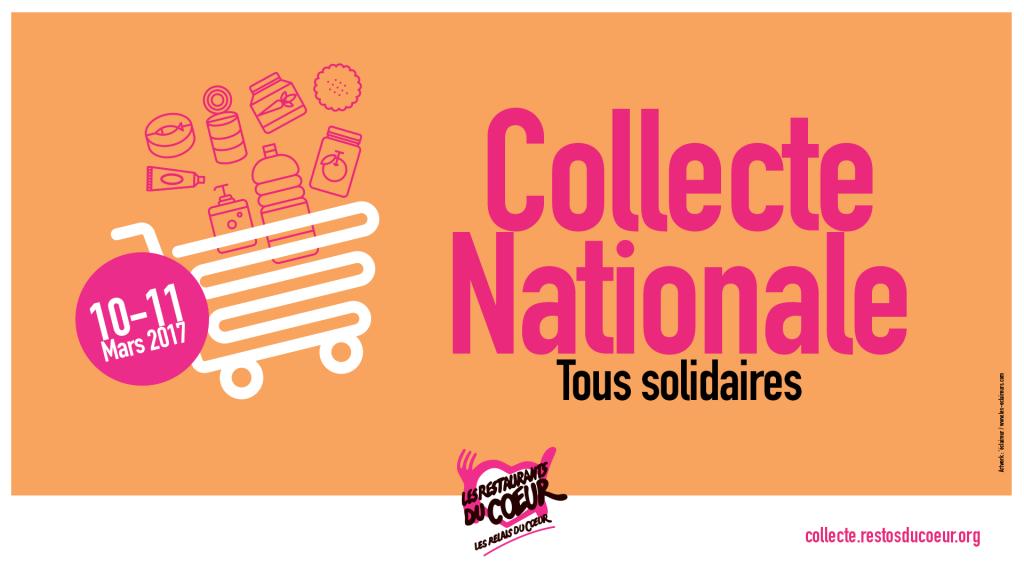 [Solidarité] Restos du Cœur : grande Collecte Nationale les 10 et 11 mars 2017