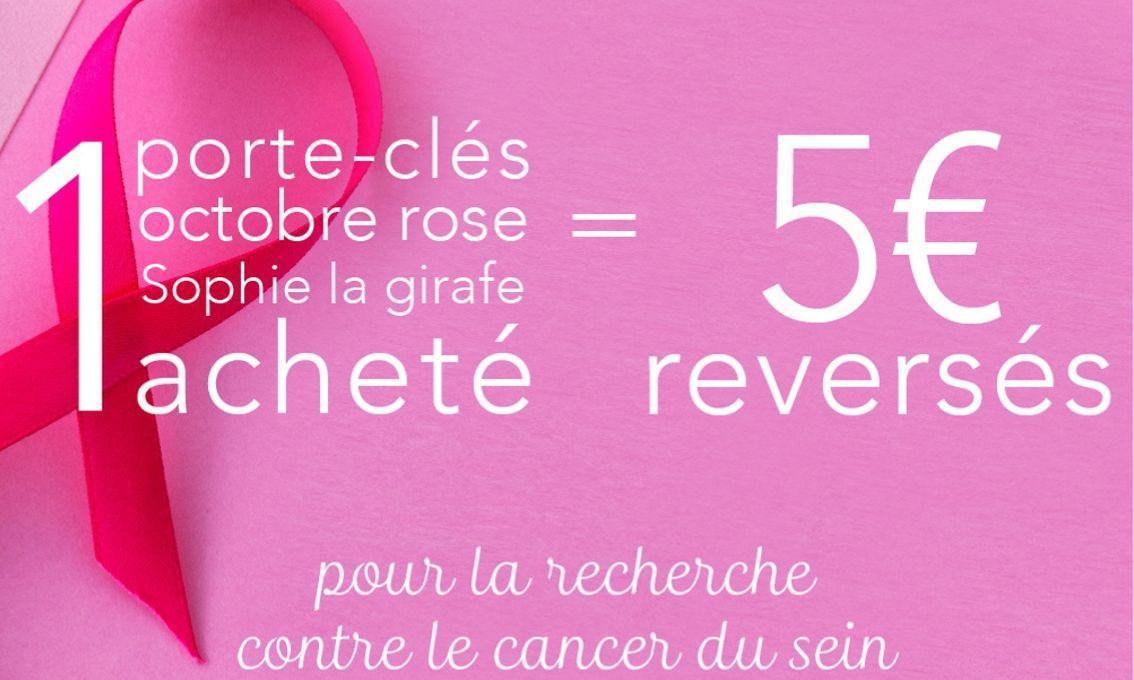 [Solidarité] Octobre Rose : Sophie la girafe s'engage dans la lutte contre le cancer du sein