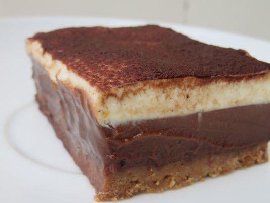 Gâteau chocolat-cheesecake à la vanille