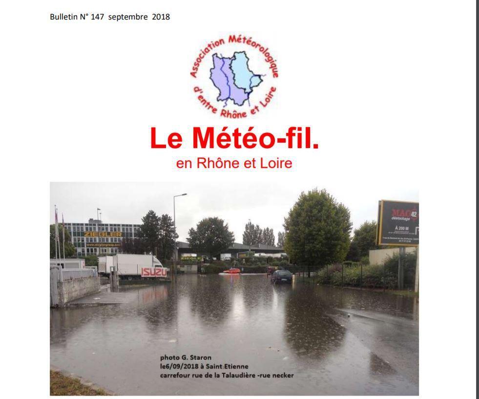 le  Meteo fil N° 147 de l'AMRL (septembre 2018) est paru