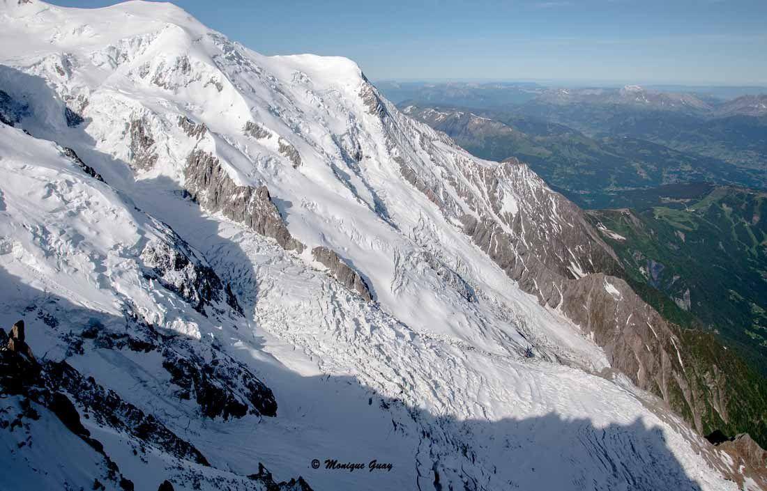 De l'Aiguille du Midi à 3800m face au Mont Blanc