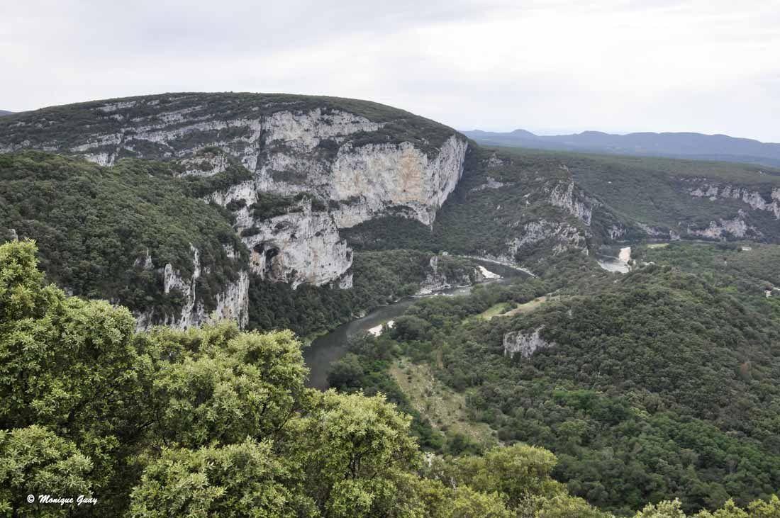 Vues sur les Gorges de l'Ardèche