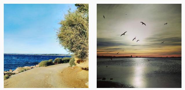 Vues sur l'étang de Thau dans l'Hérault, sur mon compte Instagram