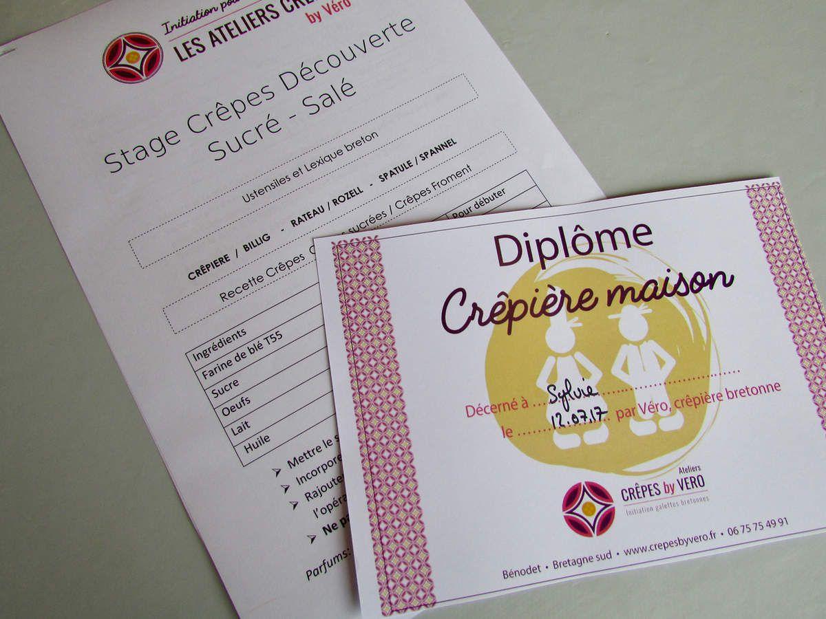 Je suis diplômée es crêpes bretonnes !