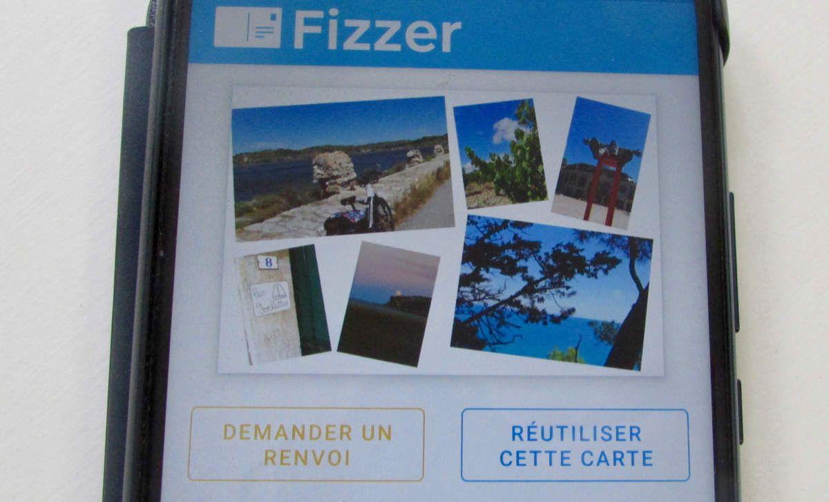 Mes cartes postales d'été avec l'application Fizzer