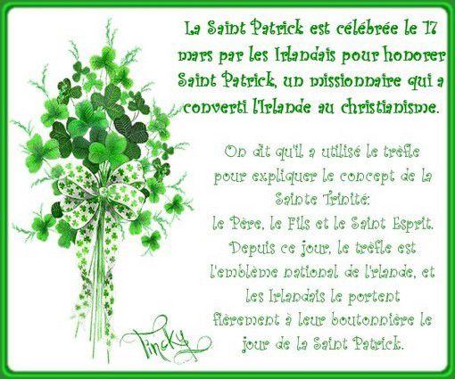 """***Création """"Voeux de la St Patrick"""" (le 17 Mars 2015)!!! Sourire***"""