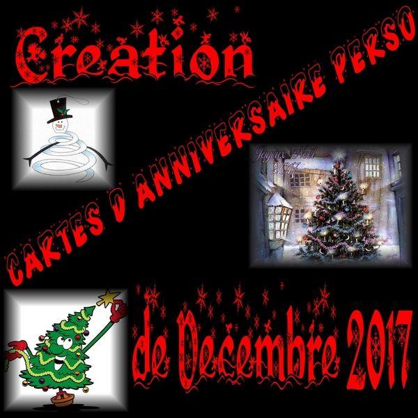 Création Cartes Danniversaireperso Du Mois De Décembre 2017