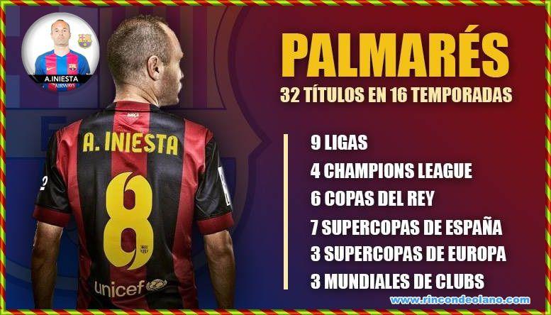 Homenaje del Camp Nou a Andrés Iniesta