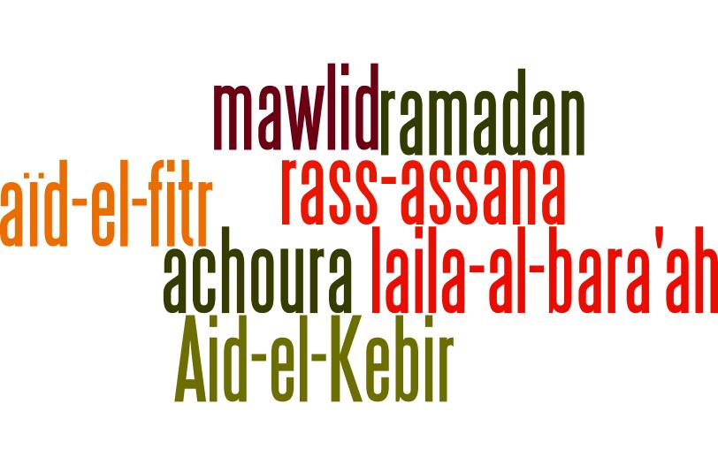 Dates des fêtes musulmanes