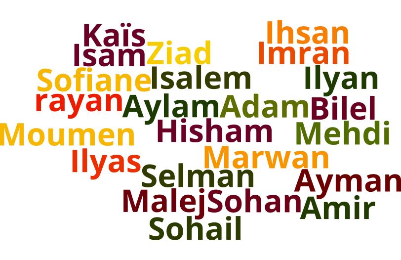 Prénoms arabes-Sélection des préférés
