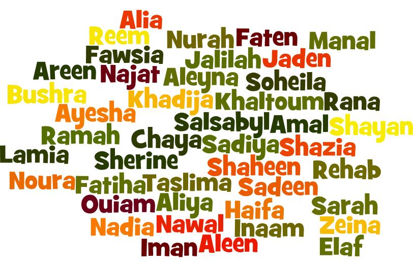 Prénoms saoudiens féminins