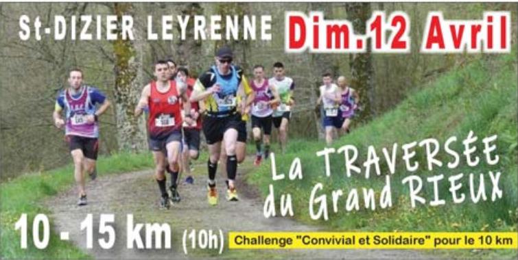 Courses 10 et 15 km, la traversée du GRAND RIEUX 2020