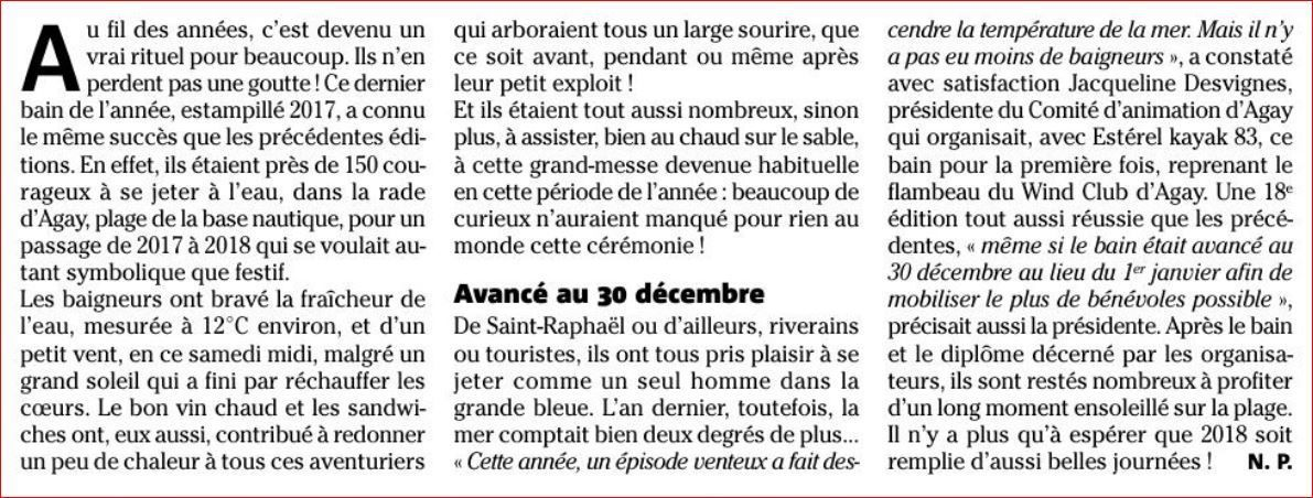 Au revoir 2017 : Rade d'Agay le 30 décembre