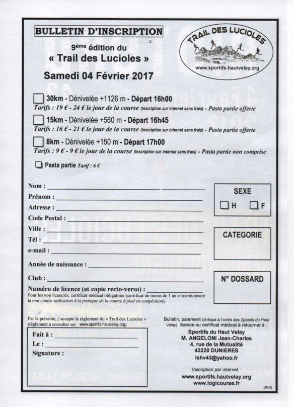 bulletin d'inscription 2017