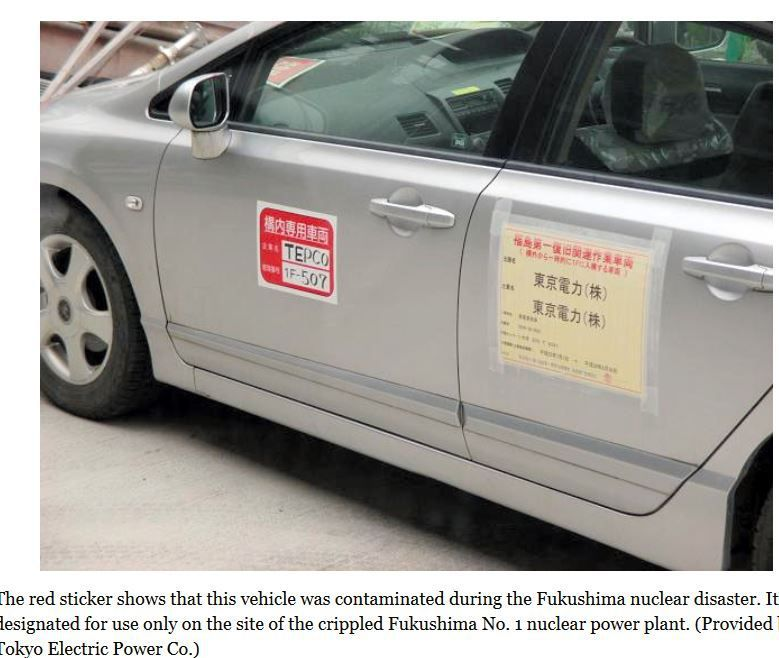All  vehicles contaminated by nuke disaster will be scrapped by 2020