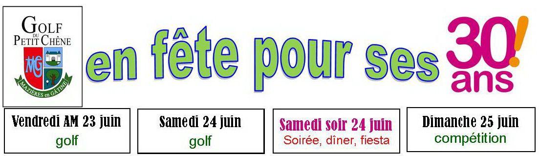 Réservez votre WE du 24 & 25 juin pour fêter les 30 ans du golf