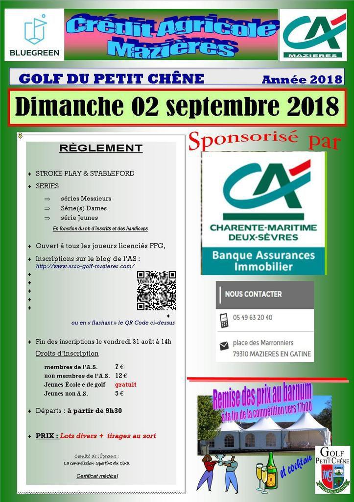 Compétition Crédit Agricole de dimanche prochain !...
