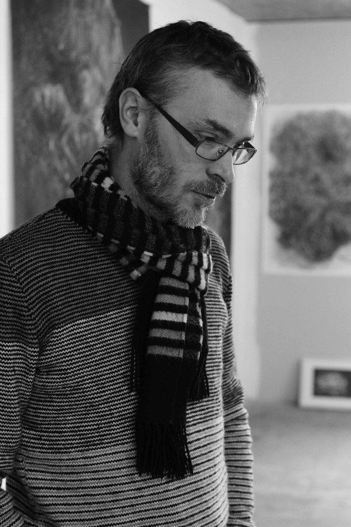 Rémy Jacquier dans son atelier
