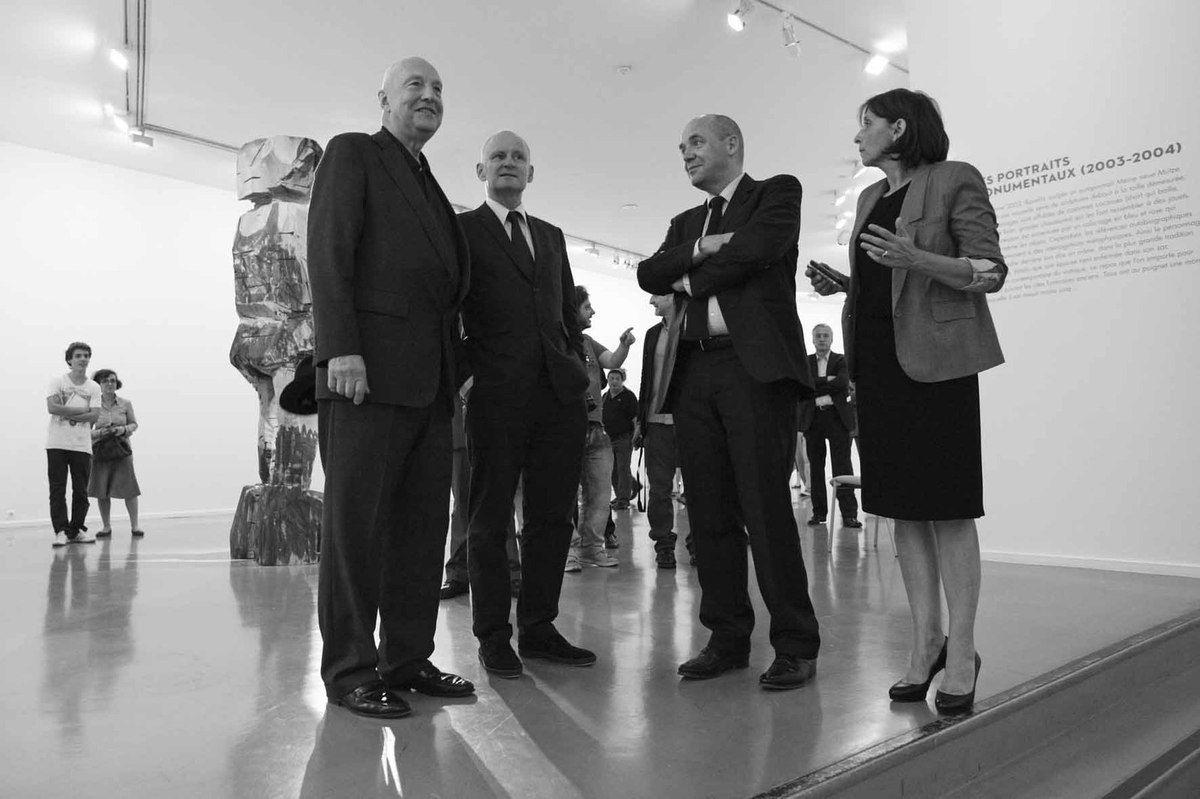 Geörg Baselitz, Christophe Girard, Fabrice Hergott, Dominique Gagneux