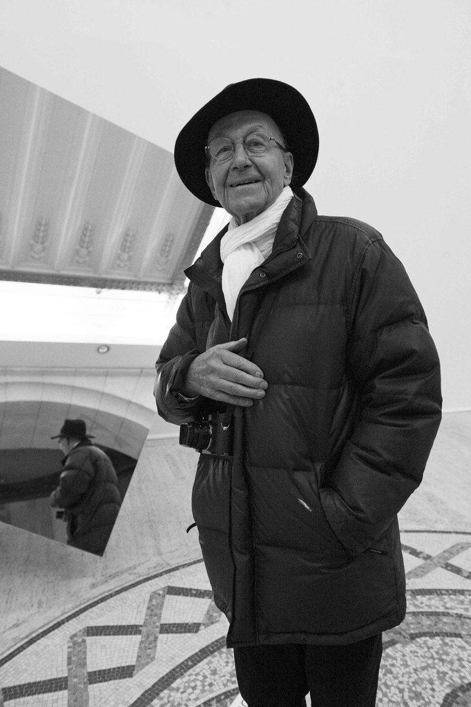 René Burri (1933-2014). Vernissage de l'exposition Dynamo. Grand Palais. Paris le 7 avril 2013