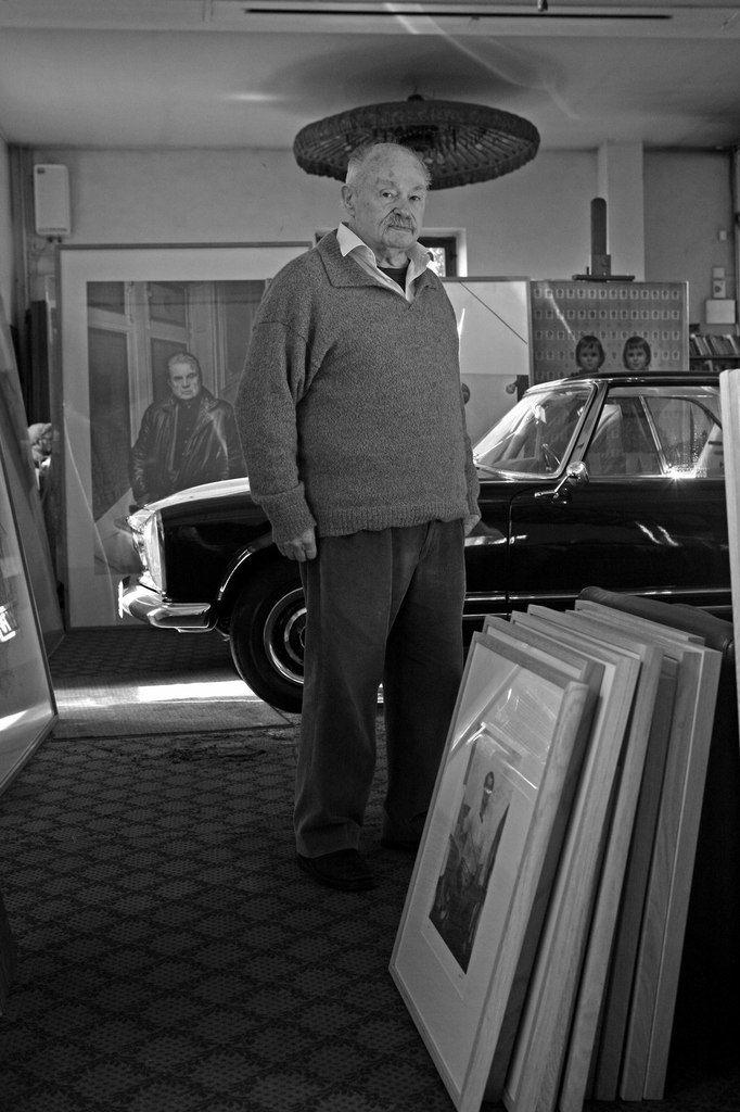 Jean-Olivier Hucleux (1923-2012) à Vaux sur Seine le 26 novembre 2008