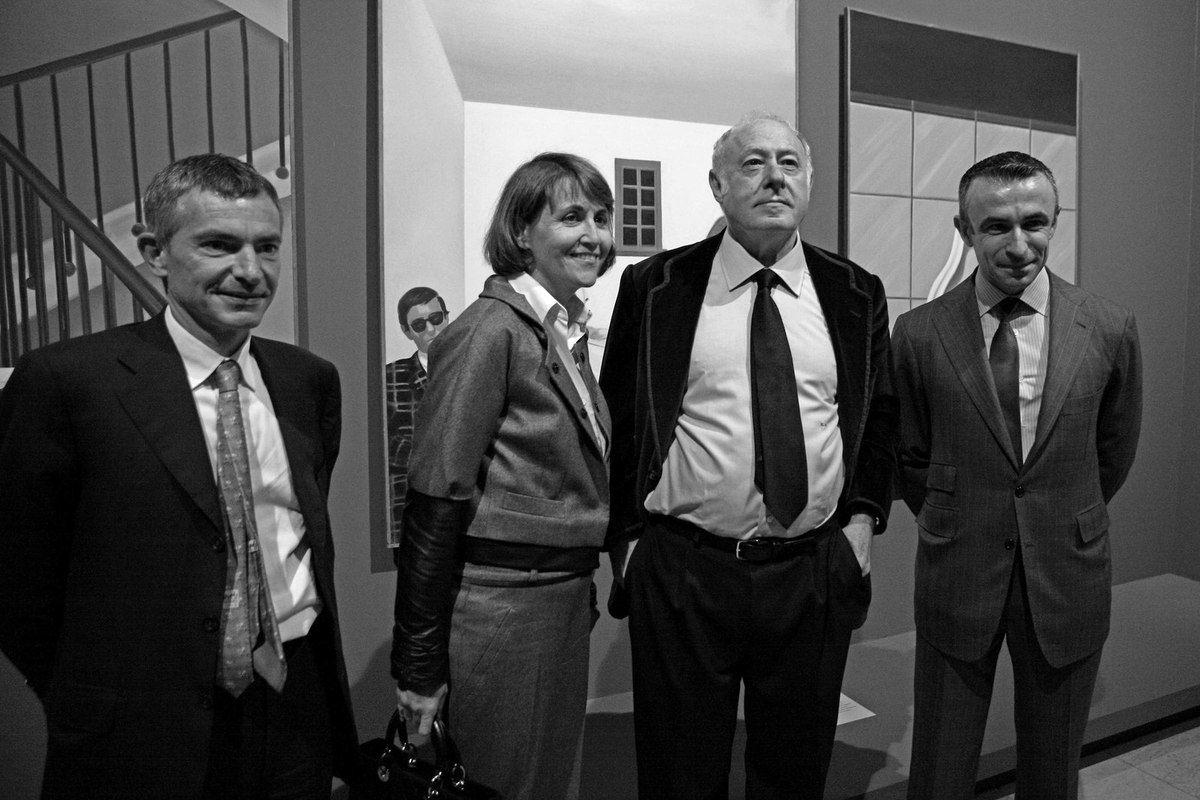 Thomas Grenon, Christine Albanel, Eduardo Arroyo, Alain Seban