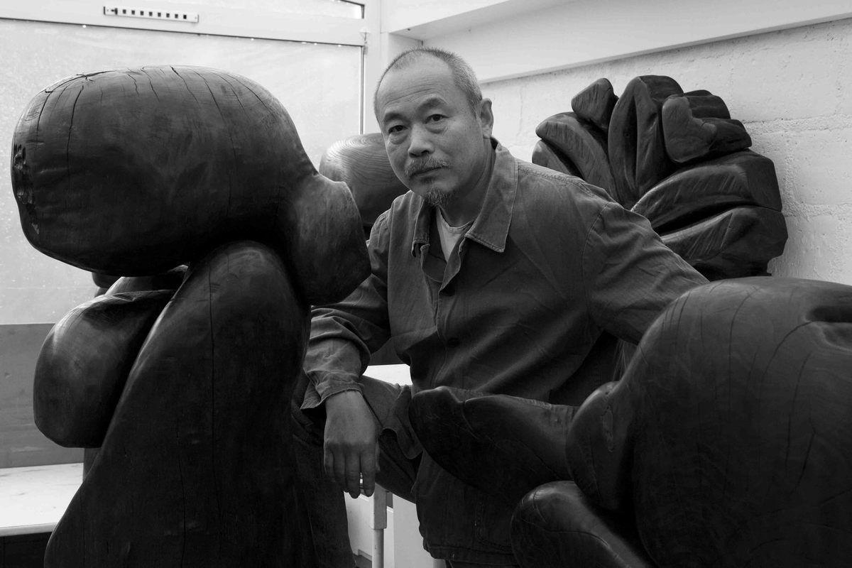 Dans son atelier de Vitry le 4 septembre 2009