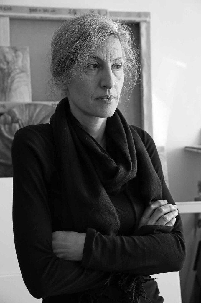 Elisabeth Trenkwalder dans son atelier