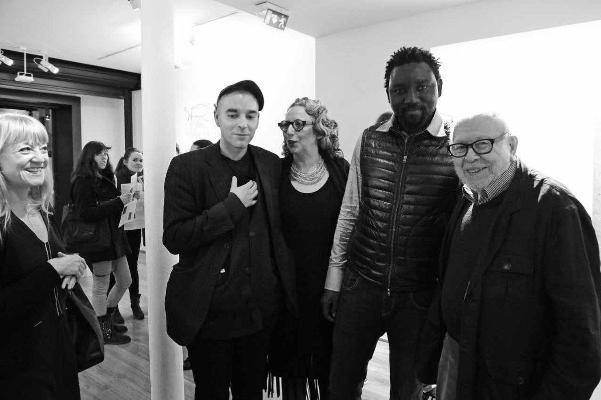Avec Katharina Rieger, Andrew Gilbert, Dominique Polad-Hardouin, Omar Ba. Galerie Polad-Hardouin. Paris le 10 janvier 2013