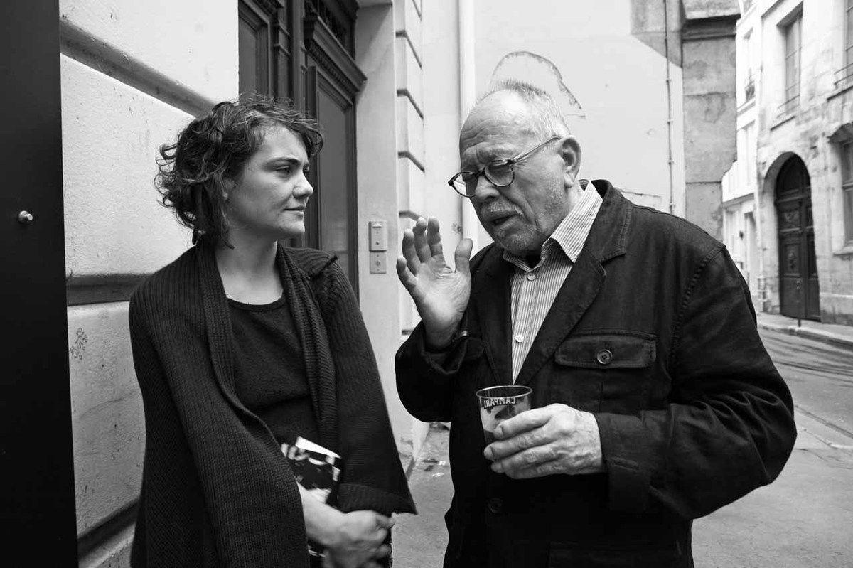 Avec Cristine Guinamand. Galerie Polad-Hardouin. Paris, le 11 septembre 2008