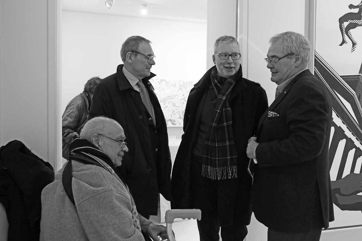 Hervé Télémaque, Jean-Jacques Aillagon, Christian Briend, Patrick Bongers