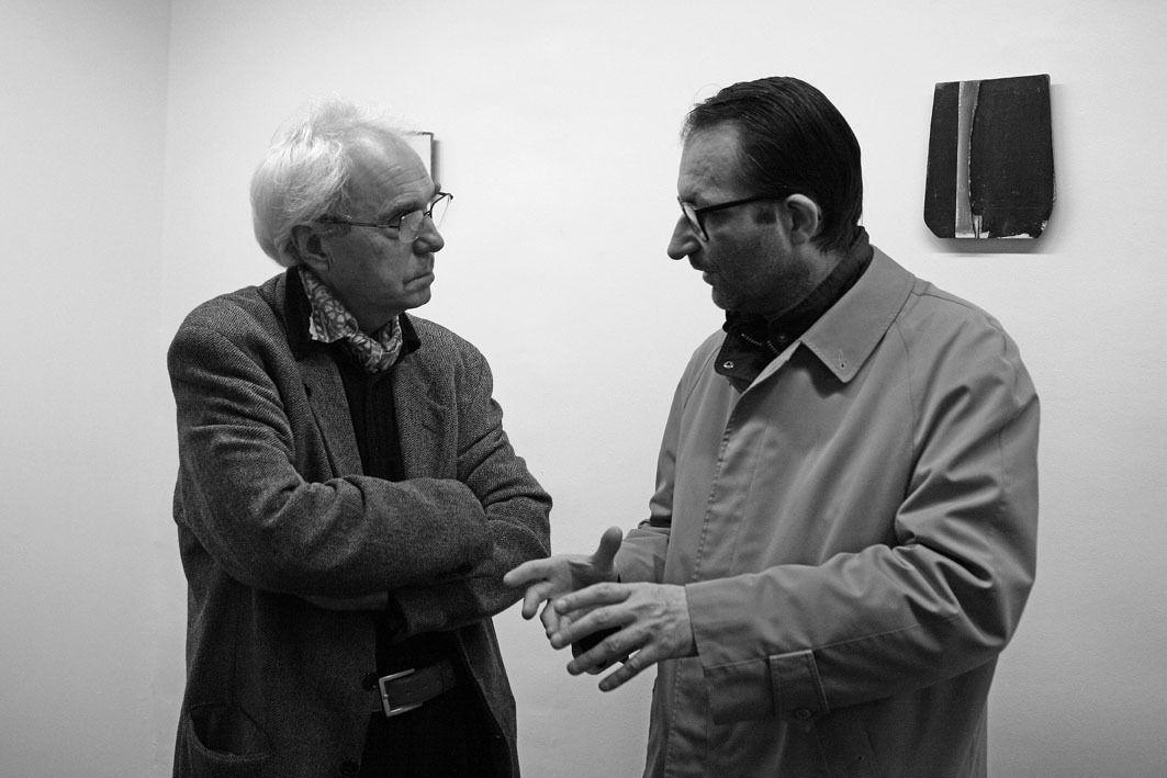 Daniel Pandini, Jean Brault. Vernissage de l'exposition Daniel Pandini. Galerie Cour Carrée. Paris le 30 novembre 2007