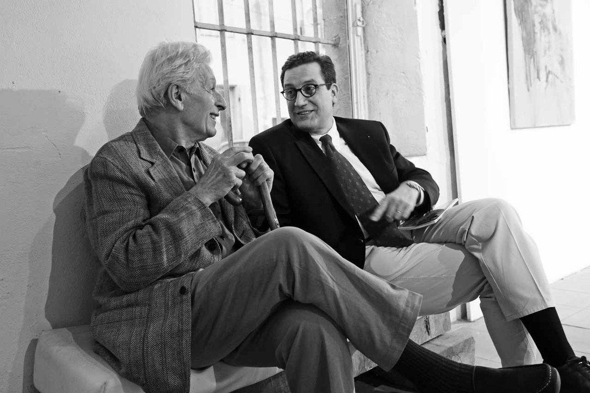 Avec Pierre de Panafieu. Centre d'Art Contemporain Raymond Farbos. Mont de Marsan le 18 avril 2013