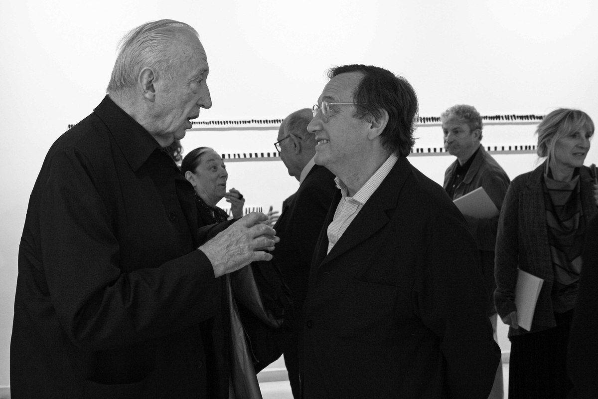 Pierre Soulages, Colette Soulages, Serge Lemoine, Jean-François Dubreuil