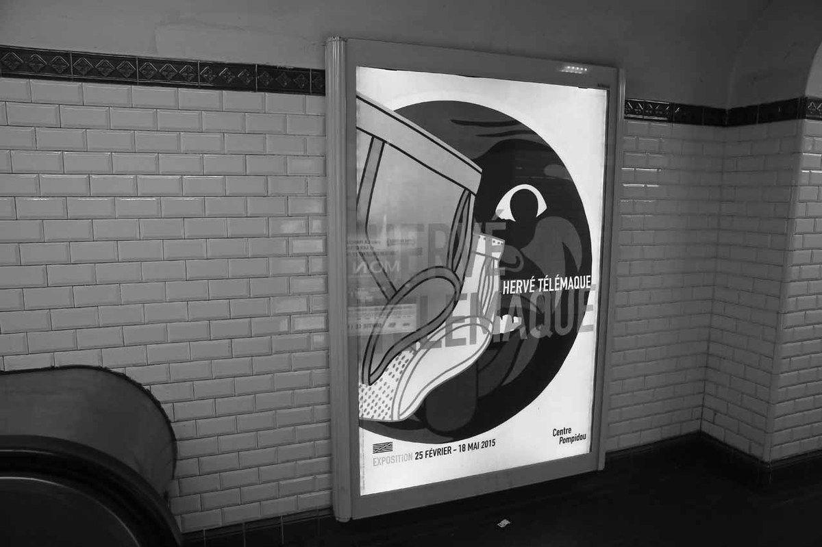 Affiche de l'exposition. Métro station Pereire