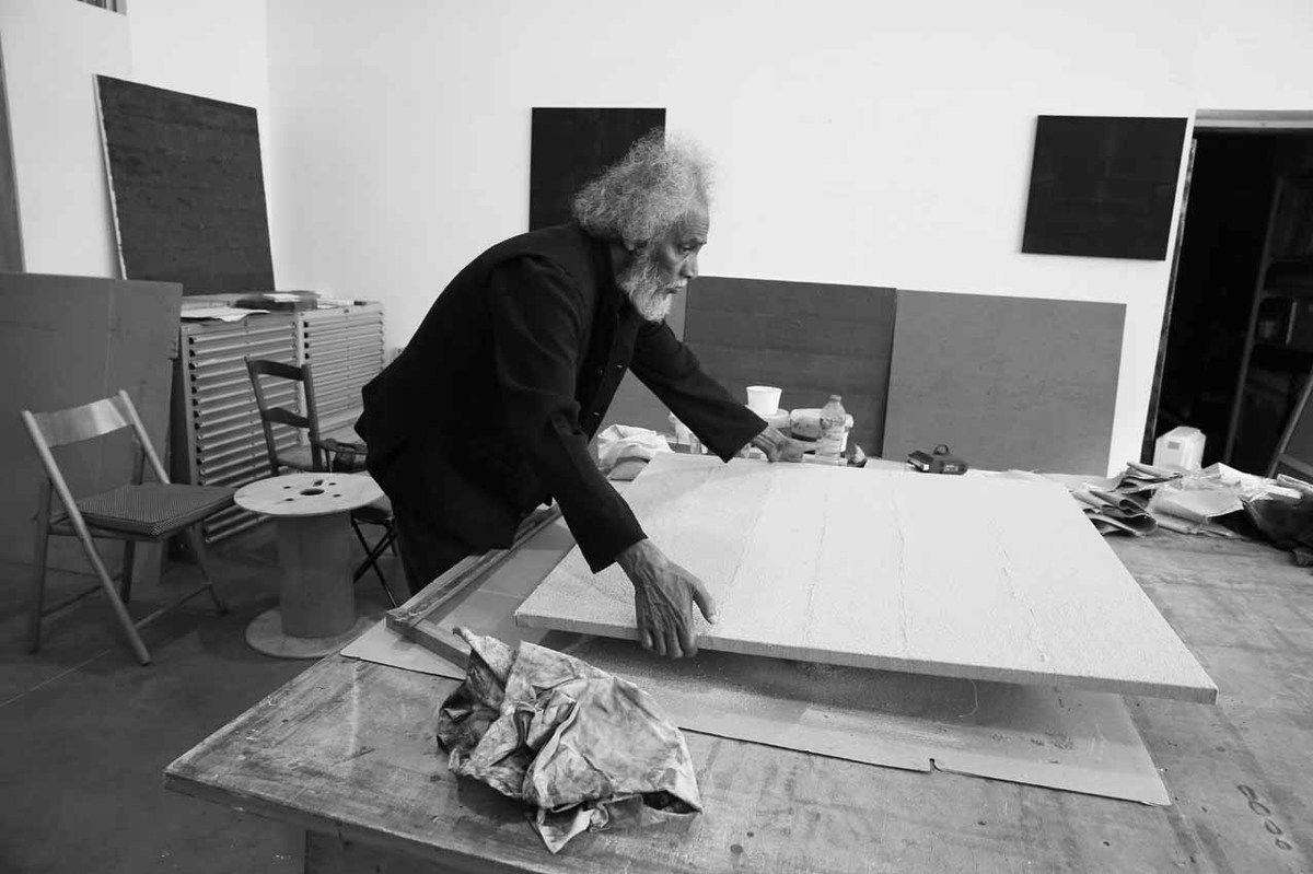 Visite de l'atelier de Velu Viswanadhan. Ivry sur Seine le 11 avril 2015