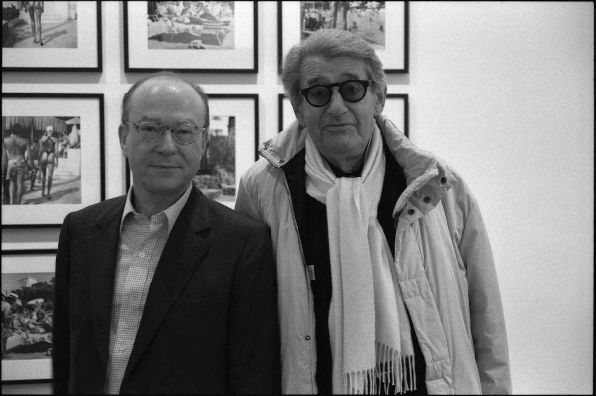 Daniel Templon, Helmut Newton (1920-2004). Vernissage de l'exposition Helmut Newton. Galerie Daniel Templon. Paris le 25 octobre 2003