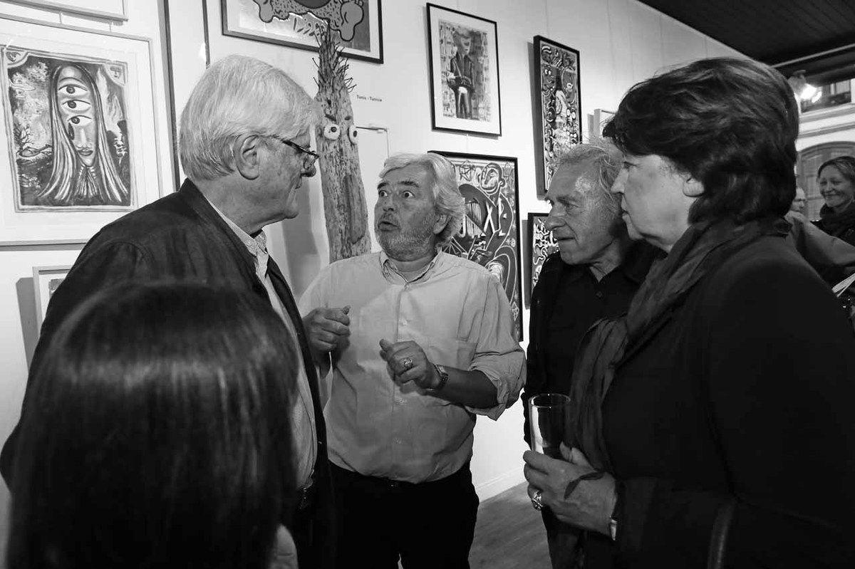 Jean-Louis Brochen, Hervé Di Rosa, Jean Seisser, Martine Aubry