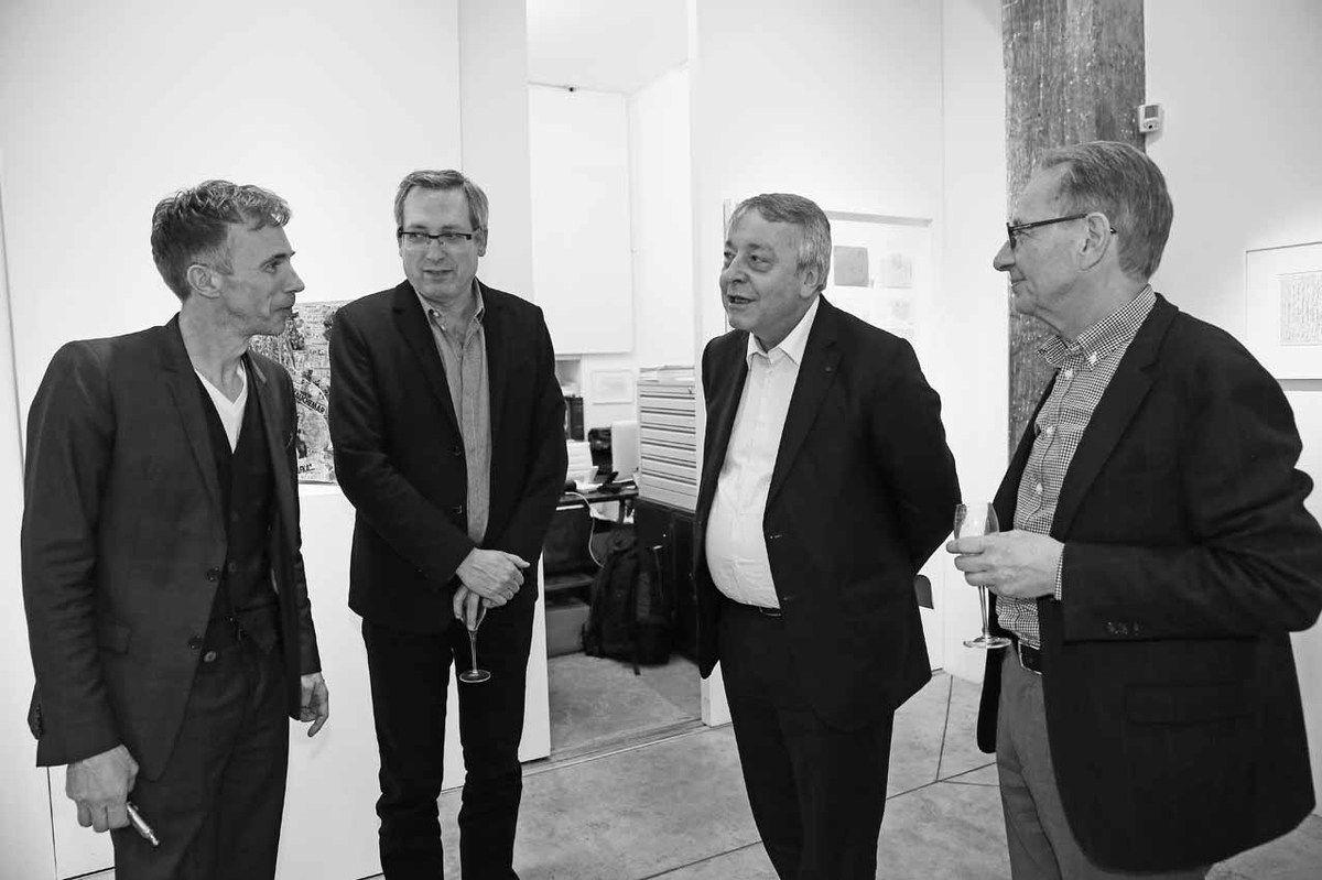 Christian Berst, Guy Delcourt, Antoine Frérot, Jean-Hubert Martin